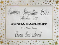 Chorus Star Award to Donna Carnduff